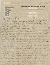 Carver, George Washington. Autograph letter signed.