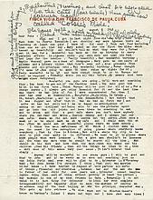 Hemingway, Ernest. Typed letter signed.
