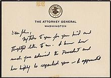 Kennedy, Robert F. Autograph letter signed