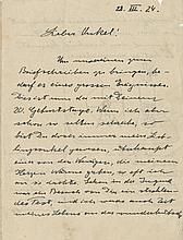 Einstein, Albert. Autograph letter signed.