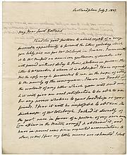 Monroe, James. Autograph letter signed.