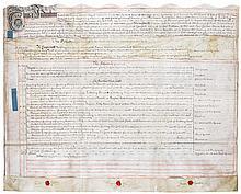 Newton, Sir Isaac. Document signed.