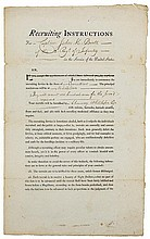 Knox, Henry. Partially printed document hand signed.