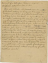 Jefferson, Thomas. Autograph letter with integral signature (
