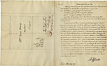 Jefferson, Thomas. Autograph letter signed (