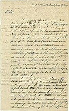 Washington, George. Important letter signed (