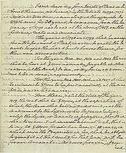 Washington, George. Autograph manuscript signed twice (