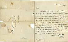 Burr, Aaron. Autograph letter signed (
