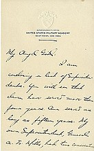MacArthur, Douglas. The intimate correspondence of Douglas MacArthur with his first wife, Mrs. Louise Brooks MacArthur comprising sixty-four autograph letters signed (