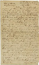 Lincoln, Abraham. Autograph document signed (
