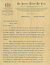 Barton, Clara. Autograph letter signed (