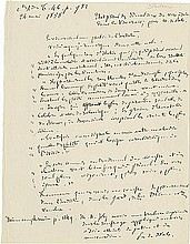 Pasteur, Louis. Autograph manuscript unsigned, in French, 1 page.
