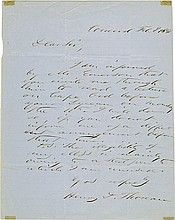 Thoreau, Henry David. Autograph letter signed (