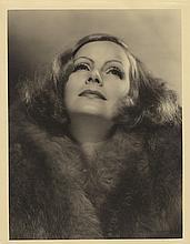 Greta Garbo vintage oversize portrait by Clarence Sinclair Bull.