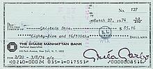 Greta Garbo signed check.