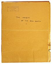 The Masque of the Red Death by Orson Welles personal photostat copy script.