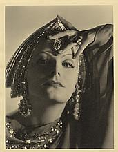 Greta Garbo vintage oversize portrait by Clarence Sinclair Bull from Mata Hari.