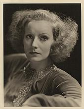 Greta Garbo vintage oversize portrait by Clarence Sinclair Bull from Inspiration.
