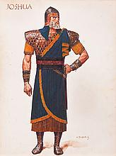 Arnold Friberg costume sketch of Joshua from The Ten Commandments.