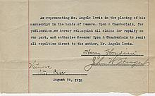 Harry Houdini (3) signed documents.