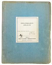 Walt Disney's handwritten production script from 20,000 Leagues Under the Sea.