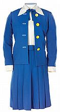 Lucille Ball blue jacket and skirt ensemble from Here's Lucy and TV Guide cover.