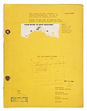 The Blackboard Jungle final draft script.