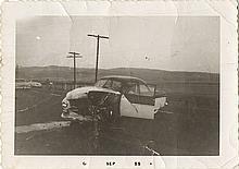 James Dean (3) vintage original crash-site photographs and (19) studio publicity stills.