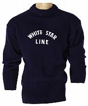 White Star Line woolen officer's sweater from Titanic.