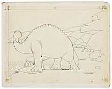 (2) Original Winsor McCay production drawings from Gertie the Dinosaur.