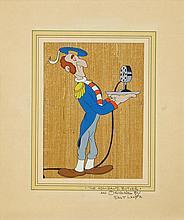 Original production cel from a Walter Lantz cartoon short.