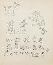 Original model drawings from The Foxy Terrier.