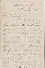 [Civil War - Closing Days] Collection of 7 letters from Officers of the Union and the Confederacy