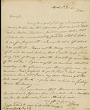 Burr, Aaron. A group of 3 autograph letters signed by the third Vice President of the United States
