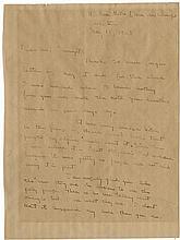 Hemingway, Ernest. Autograph letter signed, 2 pages quarto, Paris, 15 May 1925.