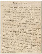 Adams, John, Second President. Fine autograph letter signed (