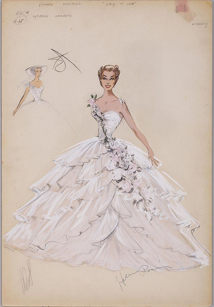 Helen Rose Costume Sketch Of Esther Williams For Easy To Lov