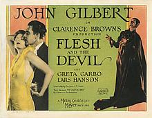 (2) lobby cards for Flesh and the Devil.