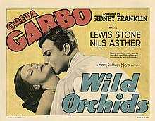 (4) lobby cards for Wild Orchids.