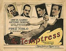 Lobby cards for The Temptress and The Torrent.