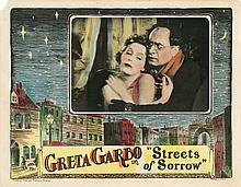 Lobby card for Streets of Sorrow with Greta Garbo.