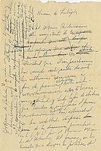 Castro, Fidel. Autograph manuscript, 2 pages, (ca. 1961).