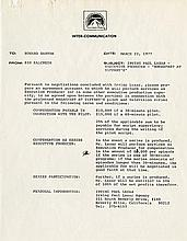 Capote, Truman. Document signed (