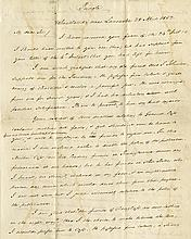 Buchanan, James. Remarkable political autograph letter signed (
