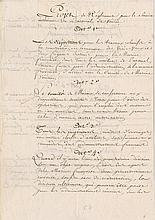 [Bonaparte, Napoleon]. Pair of manuscript documents (ca. 1797).