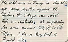 Ali, Muhammad. (47) Rare and historic handwritten lined speech index cards (unsigned).