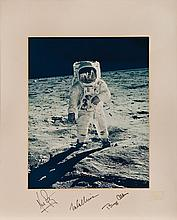 Historic oversize NASA color photograph signed (