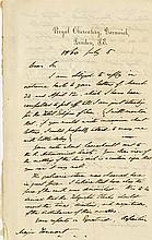 [Astronomy]. Airy, George Biddell. Autograph letter signed (