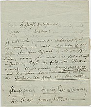 Beethoven, Ludwig van. Important autograph letter signed (