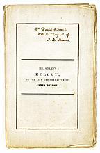 Adams, John Quincy. Presentation copy of his Eulogy on James Monroe signed (